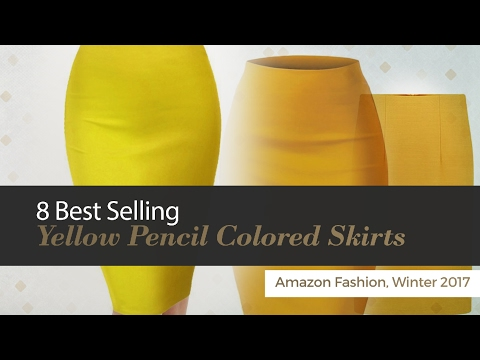 8 Best Selling Yellow Pencil Colored Skirts Amazon Fashion, Winter 2017