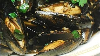 Stir Fry Mussels with Spicy Ginger and black beans sauce
