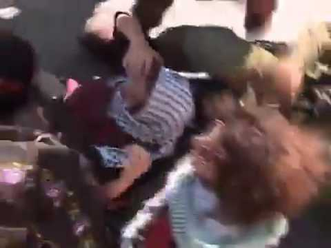 Israeli Soldiers attacks Palestinian women.
