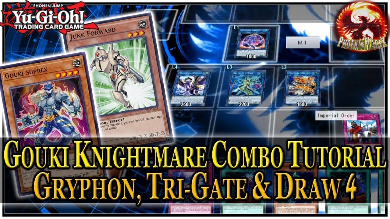 GOUKI KNIGHTMARE Combo Tutorial #2: Gouki + Warrior = Tri-Gate. Gryphon. Searched Floodgate & Draw 4 - YouTube