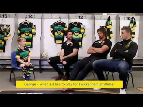Northampton Saints players tackle the BIG questions in Aviva's mini interview!