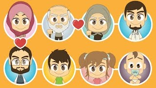 Family Members in Arabic for Kids - Learn Family Members with Zakaria