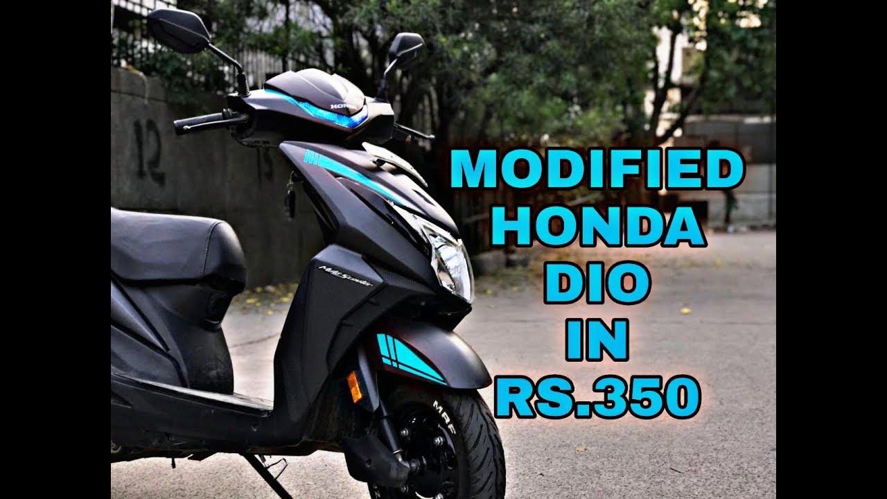 Honda dio modified in 350 rupees tail tidy radium