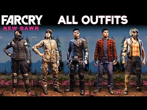 Far Cry New Dawn All Outfits Male And Female All Character Customizations Youtube