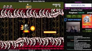Sega Genesis A Z : Atomic Robo Kid (journey To Beat Every Sega Genesis Game) Day 1