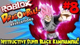 DESTRUCTIVE SUPER BLACK KAMEHAMEHA!   Roblox: Dragon Ball Online Revelations (Kai Race) - Episode 8