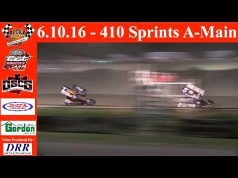 6.10.16 Attica Raceway Park 410 Sprints A-Main
