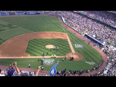 Sandy Koufax throwing out the first pitch...