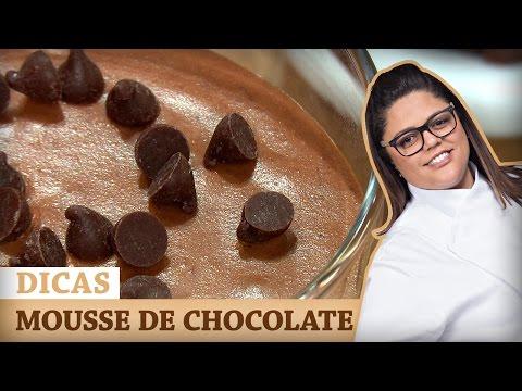 MOUSSE DE CHOCOLATE Com Dayse | DICAS MASTERCHEF
