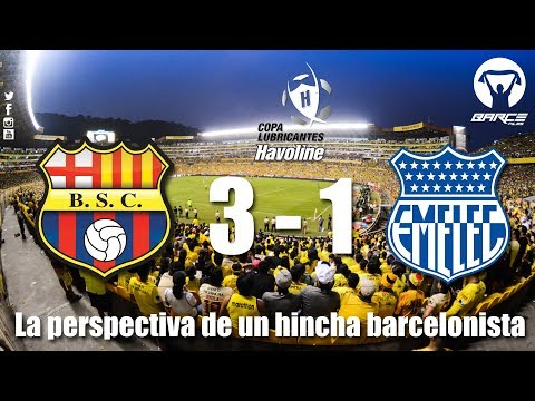 Barcelona S.C 3 vs Emelec 1 fecha 8 primera etapa Copa Lubricantes Havoline 2018