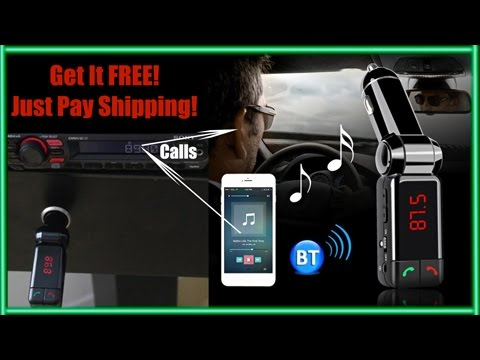 FM Transmitter, Dual USB, MP3 Player With Wireless Bluetooth Stereo - Free + Shipping
