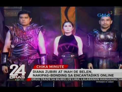 24 Oras: Diana Zubiri at Inah De Belen, nakipag-bonding sa Encantadiks online