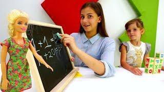 Собираемся в школу - Подготовка к урокам с Барби - Видео для девочек.