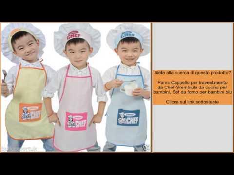 Pams Cappello per travestimento da Chef Grembiule da cucina per bambini 890f631cfcad
