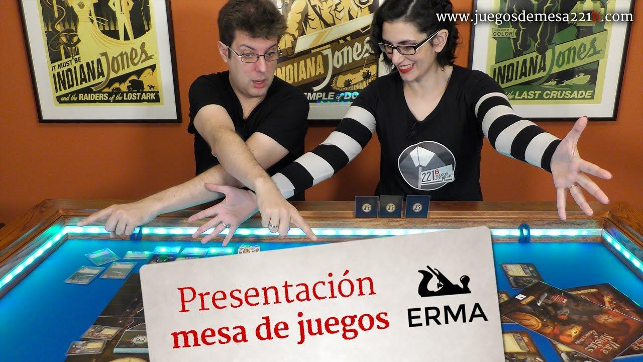 Presentación mesas de juego de ERMA muebles - YouTube