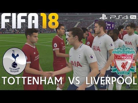 FIFA 18 (PS4 Pro) Tottenham v Liverpool PREMIER LEAGUE 22/10/2017 PREDICTION 1080P 60FPS