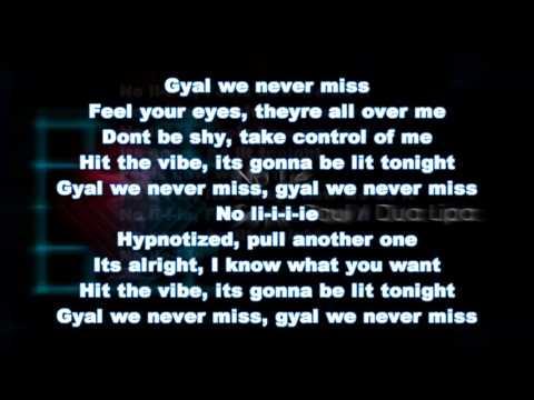Sean Paul ft. Dua Lipa - No Lie ( Lyrics )