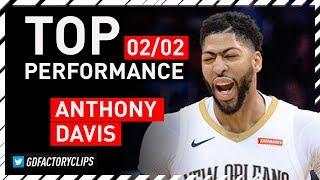 Anthony Davis TOP Full Highlights vs Thunder - 43 Pts, 10 Reb, CLUTCH | 2018.02.02