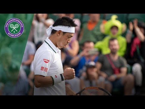 Nick Kyrgios vs Kei Nishikori 3R Highlights | Wimbledon 2018