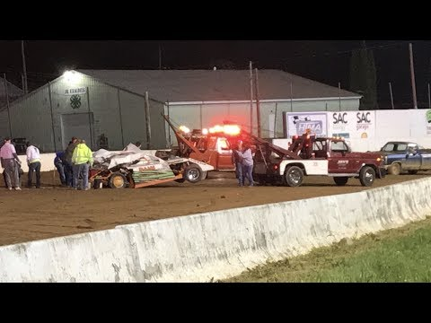 Bedford Speedway 5-26-17 Modified Crash. IN CAR