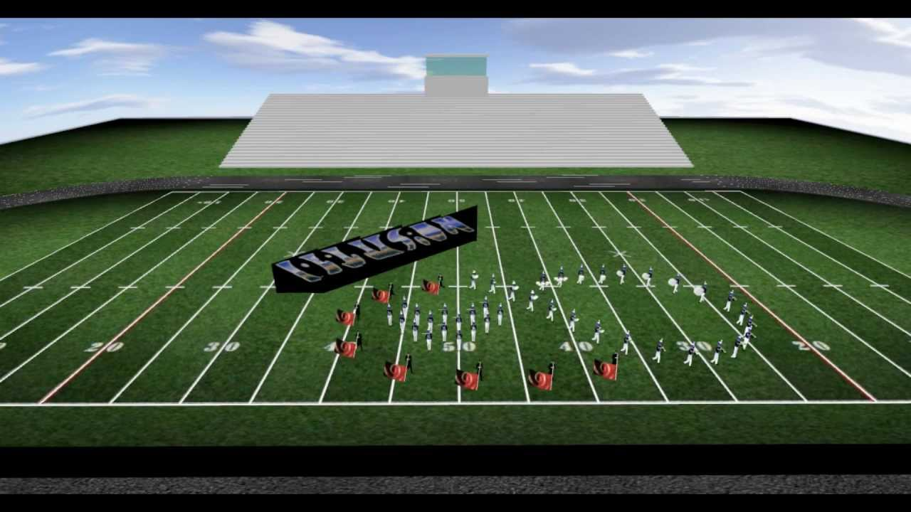 Marching Band Drill Design Optical Illusions Music By Key Poulan Youtube