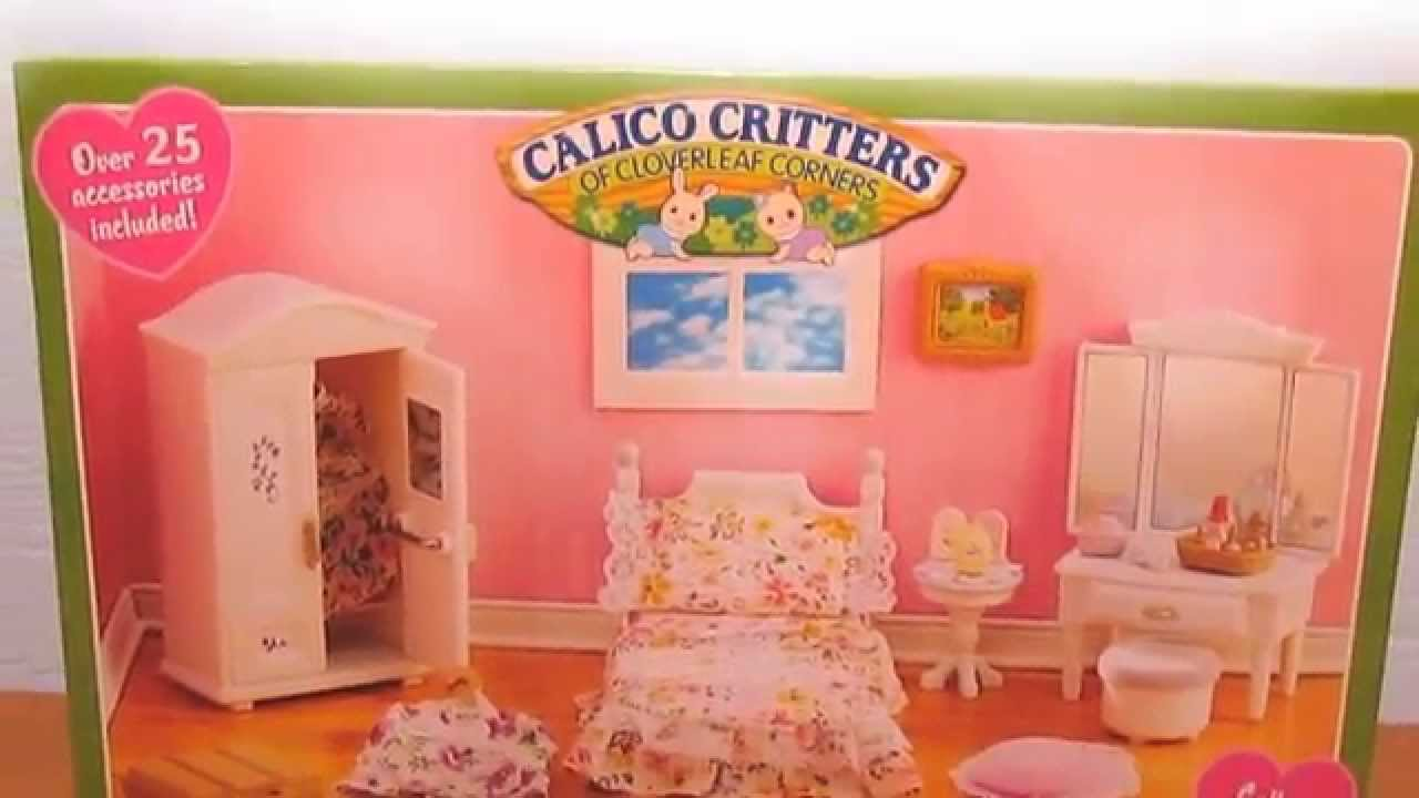 Calico Critters Girl S Bedroom Unboxing And Review With Lps Youtube