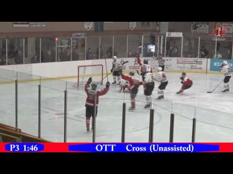 CCHL Highlights Mar 17 2017 Ottawa@Brockville