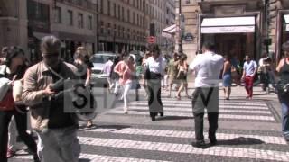 Victoria Beckham walking from Chanel to Balenciaga in Paris