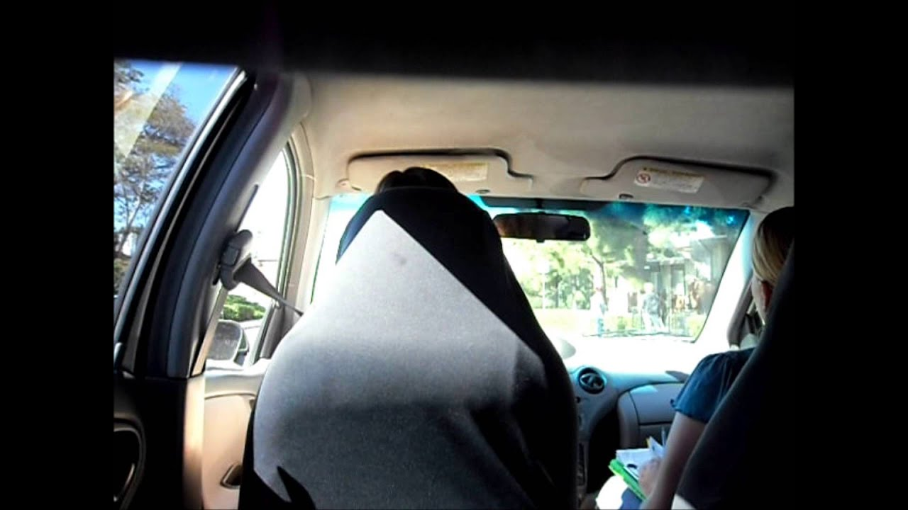 inside footage of a california behind-the-wheel driver's license