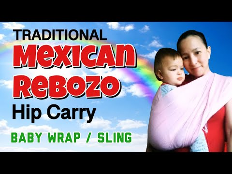 Traditional Mexican Rebozo Hip Carry (w/ Pashmina)