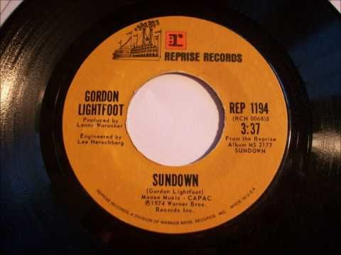 Sundown , Gordon Lightfoot , 1974 Vinyl 45 RPM