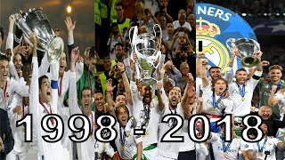 Real Madrid All Champions League 7X Wins 1998 - 2018 HD