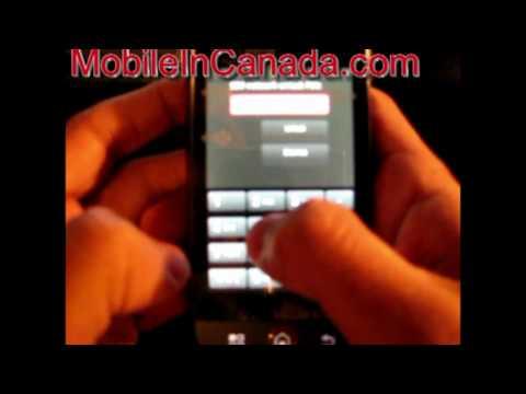 How to enter unlock code on Bell Motorola Dext - www.Mobileincanada.com