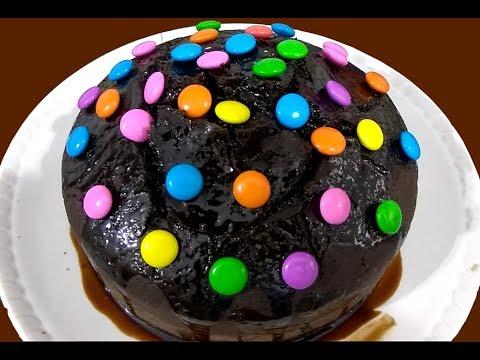 Eggless Chocolate Cake Without Oven -चॉक्लेट केक बिना अंडे का - YouTube