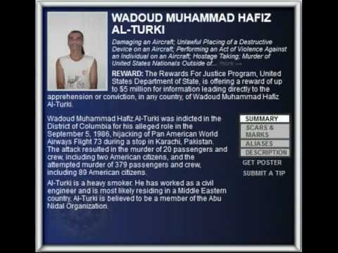 FBI Wanted 2012 - WADOUD MUHAMMAD HAFIZ AL-TURKI ($5.000.000 Reward)
