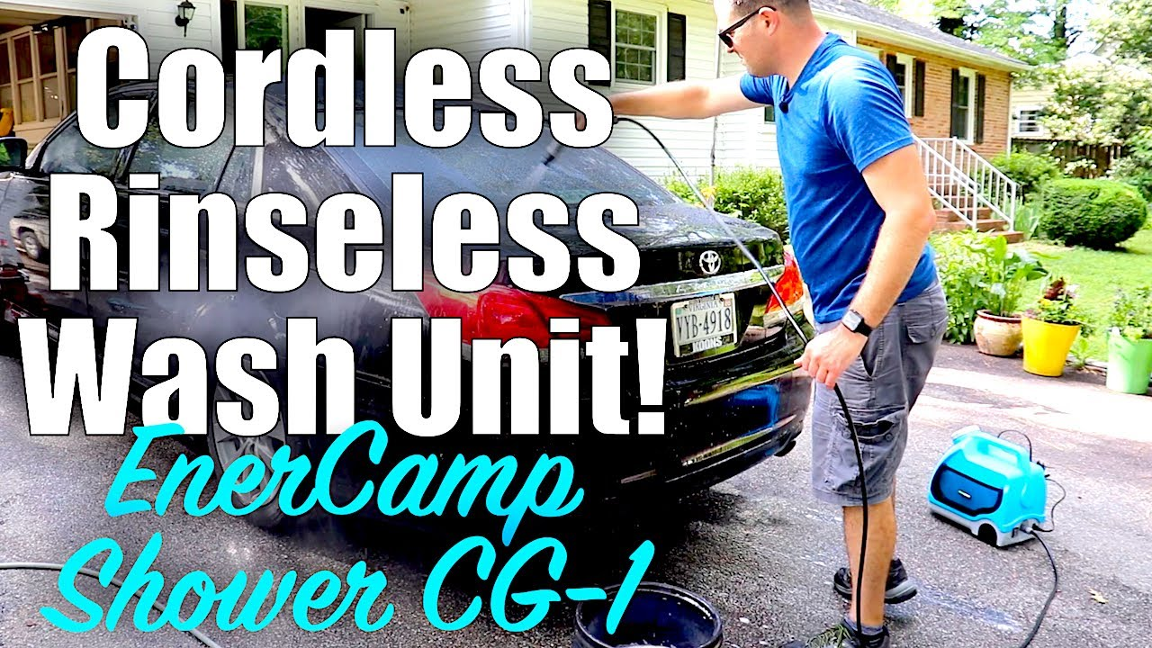 ENERCamp SHOWER-CG1 // Perfect Cordless, Portable Detailing Unit For Rinseless Washing!