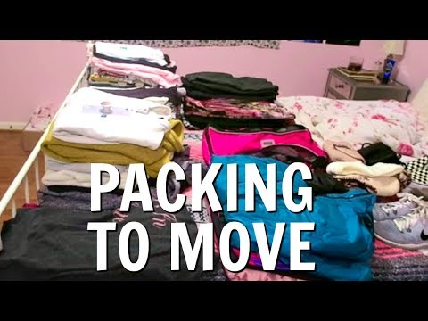 PACK WITH ME TO MOVE! | MOVING VLOG