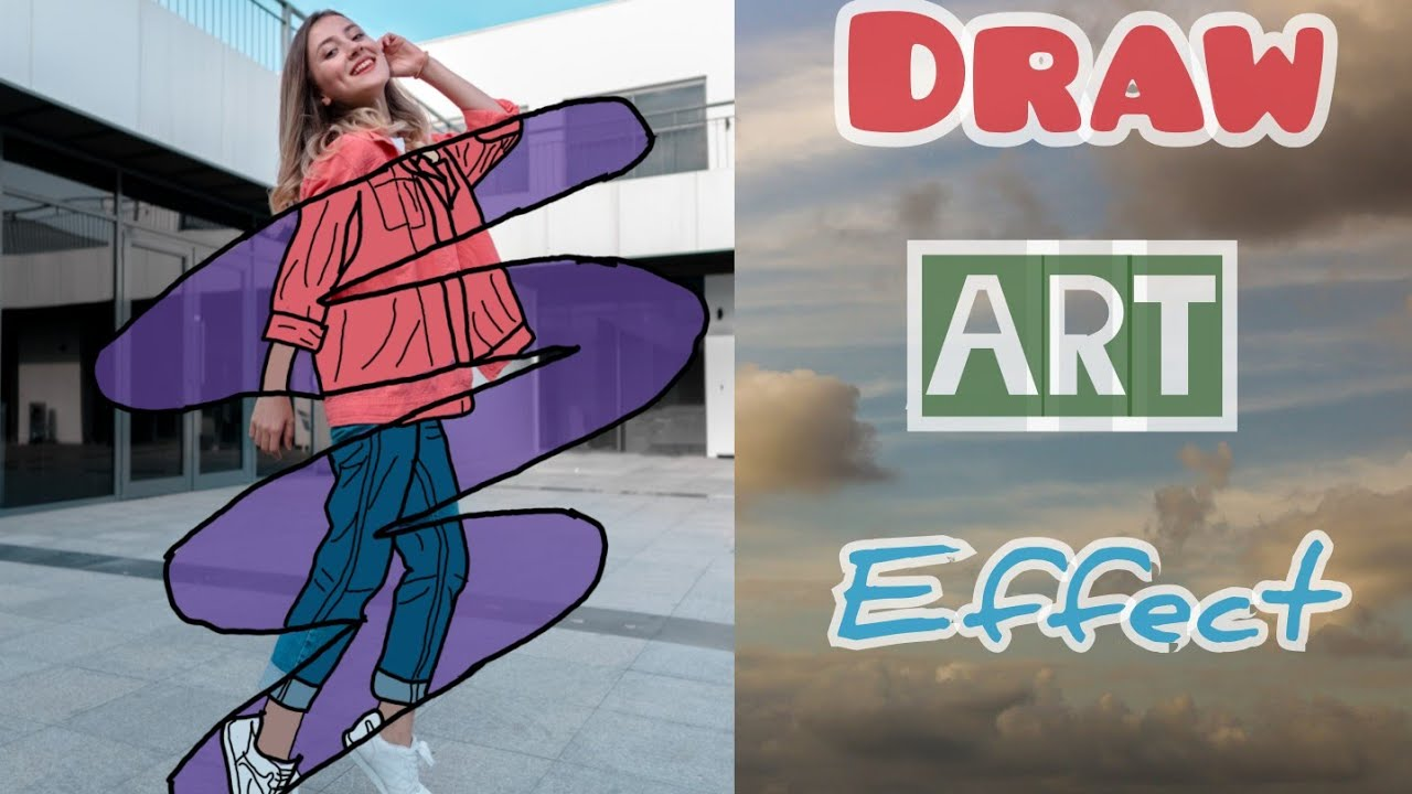 Cara Edit Foto Draw Art Effect | PicsArt Tutorial - YouTube