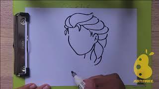 How to draw Princess Elsa