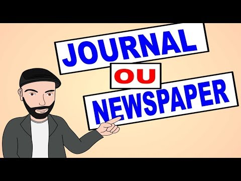 JOURNAL ou NEWSPAPER???