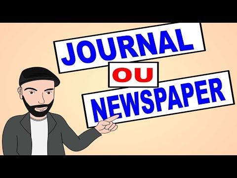 JOURNAL ou NEWSPAPER???