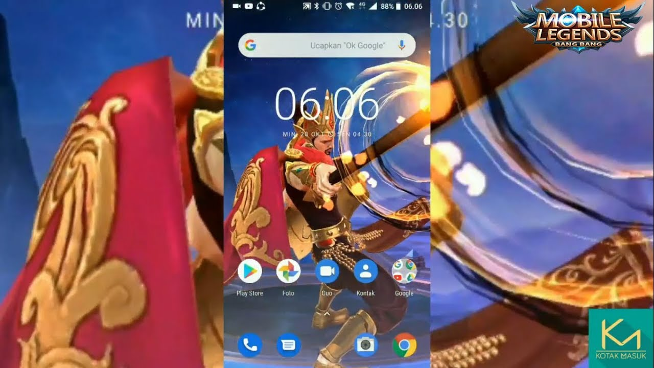 How To Create A Live Wallpaper Hero Of Mobile Legends