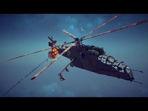 Mil Mi-24 Hind Shot Down | Besiege