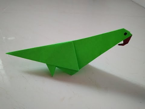 Easy craft for kids-Simple paper parrot/  paper parrot origami