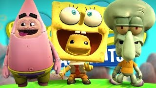 PLAY AS SPONGEBOB AND FRIENDS IN BIKINI BOTTOM !!! (Little Big Planet 3 Spongebob DLC)