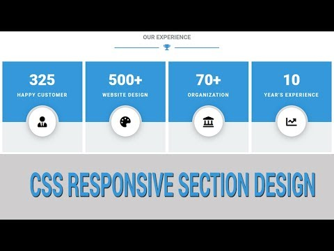 Responsive Our Experience Section Design - Using CSS Flex Property thumbnail