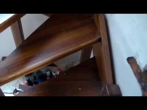 Поворот лестницы на 90 градусов забежными ступенями