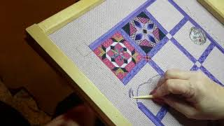 Stitch with me part 1 - Needlepoint canvas and laying tool