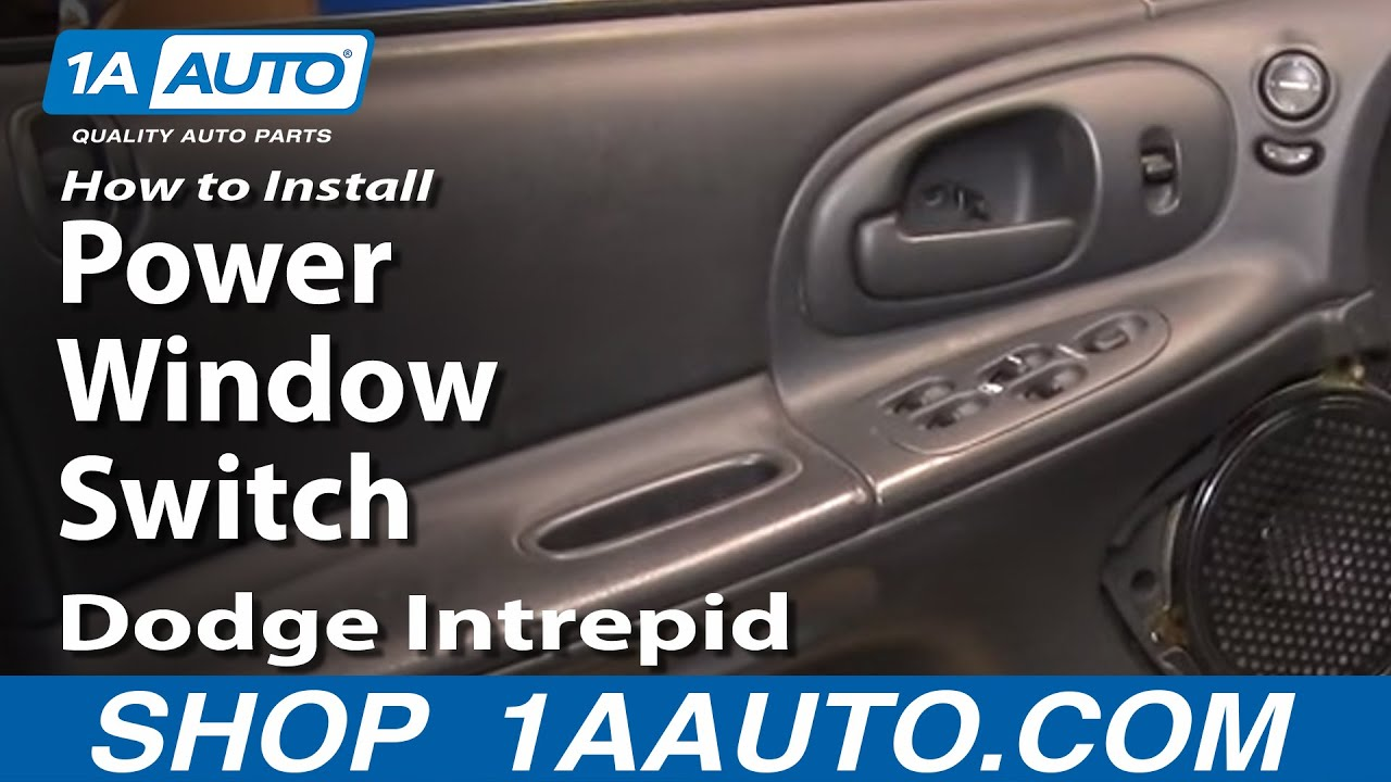How to install repair replace master power window switch dodge intrepid 98 04 1aauto com youtube