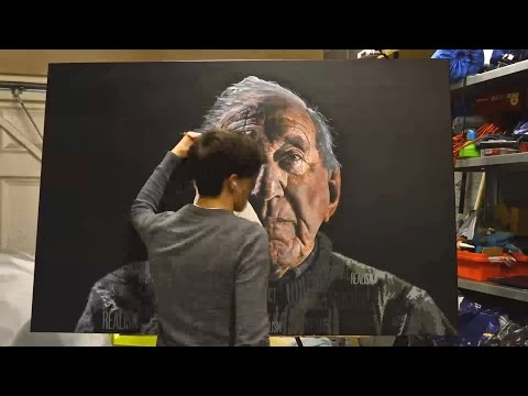 A2 Fine Art Final Piece – Max Bowden – Timelapse Hyper Realism Acrylic Painting